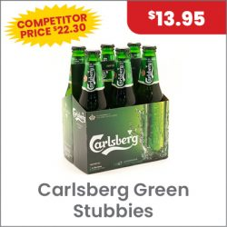 Carlsberg Green 6PACK $13.95 SUPER SPECIAL