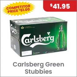 Carlsberg Green Carton $41.95 SUPER SPECIAL