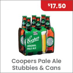 Coopers Pale Ale 6PACK $17.50