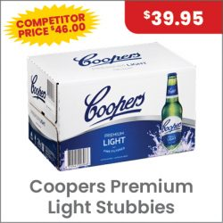 Coopers Premium Light Carton $39.95 SUPER SPECIAL