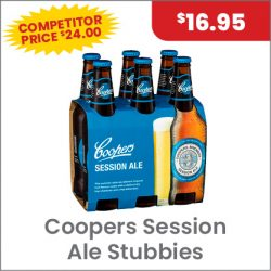 Coopers Session Ale 6PACK $16.95 SUPER SPECIAL