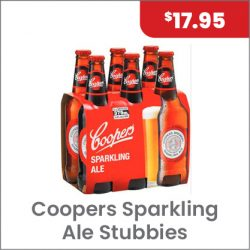 Coopers Sparkling Ale 6PACK $17.95