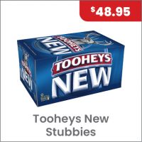 Tooheys New Stubbies Carton $48.95